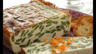 Receta De Pastel De Judías Verdes Con Crema De Champiñones - Karlos Arguiñano