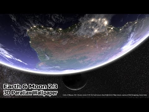 Earth Moon In Hd Gyro 3d Pro Parallax Wallpaper Paid Android App
