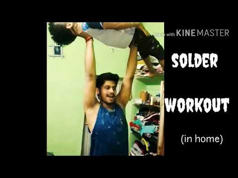 Gym workout in home || funny but effective workout || shoulder and squat