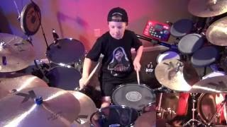 THE DANCE OF ETERNITY - Dream Theater (8 year old Drummer) Drum Cover by Avery Drummer Molek