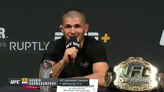 USA: Khabib and Poirier continue war of words in build-up to UFC 242