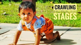 How to help baby CRAWL, Baby Crawling Stages