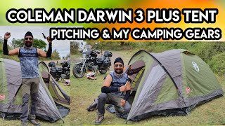 COLEMAN® DARWIN 3+ TENT PITCHING & MY CAMPING GEARS