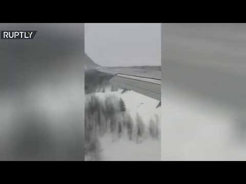 العرب اليوم - شاهد: لحظة هبوط قاس لـ
