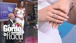 Clarissa Molina llegó al show con tremendo anillo y no vas a creer quién se lo regaló