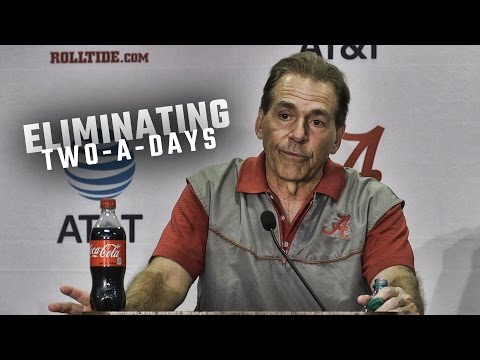 Nick Saban gives his thoughts on NCAA's vote to do away with two-a-day practices