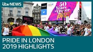 Pride In London 2019 main parade highlights   ITV News