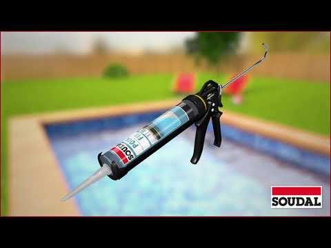 Réaliser une finition ou un collage dans une piscine avec Soudal Pool Fix