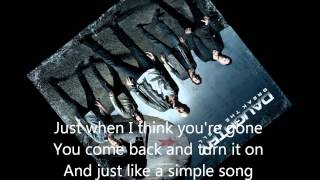 Daughtry- Outta My Head (Lyrics)