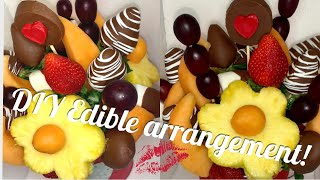 How To Make An Edible Arrangement! Valentine's Day Ideas