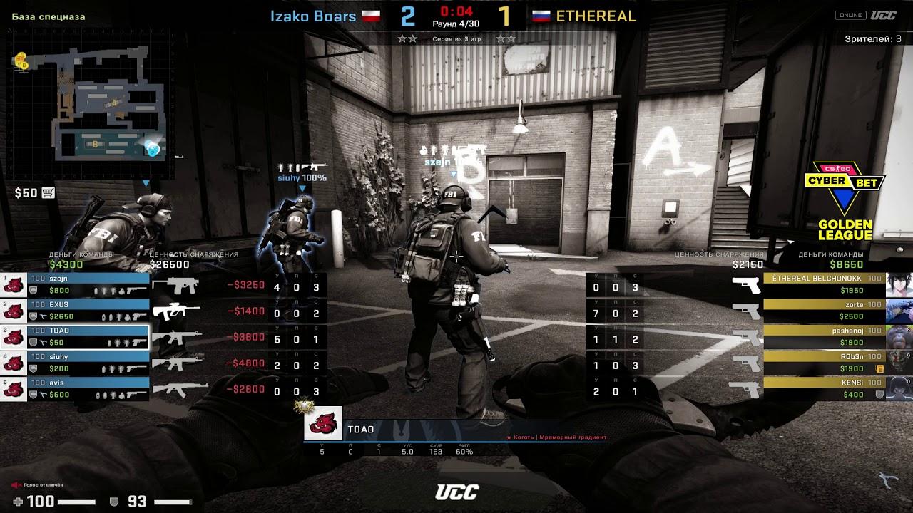 Izako Boars vs Ethereal - Cyber Bet Golden League                                                                     Round 1 - CS:GO