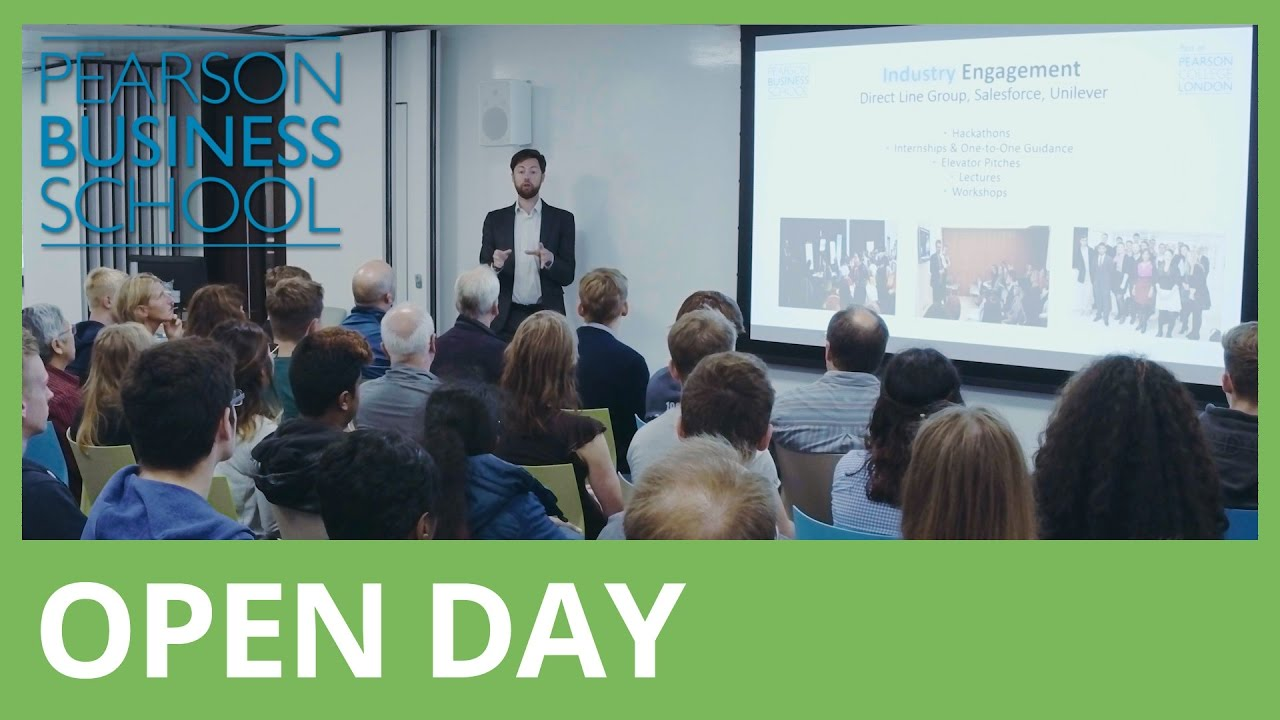 Pearson Business School - Open Day