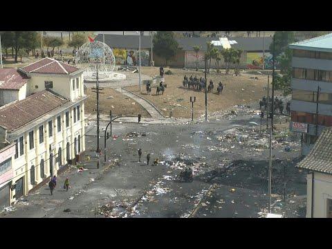 Equateur: scènes de désolation dans les rues de Quito, après 11 jours de crise sociale | AFP Equateur: scènes de désolation dans les rues de Quito, après 11 jours de crise sociale | AFP