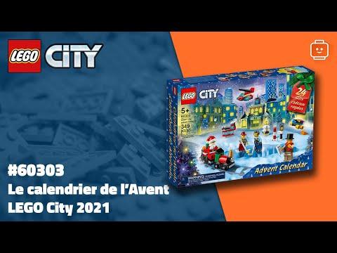 Vidéo LEGO City 60303 : Calendrier de l'Avent LEGO City 2021