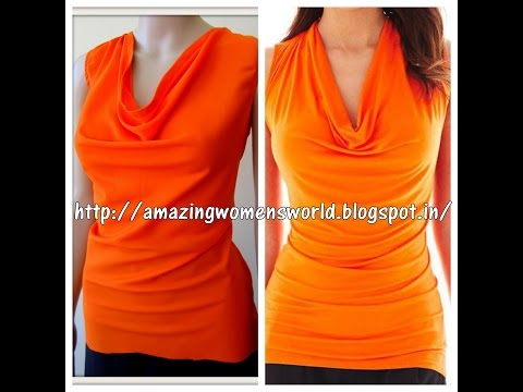 HOW TO CUT & SEW COWL NECK TOP || TUNIC - DIY - EASY MAKING- STEP BY STEP