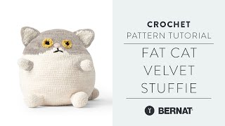 Fat Cat Crochet Toy Stuffie With The Crochet Crowd | Easy Pattern Tutorial