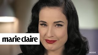 How Dita Von Teese *Really* Applies Her Famous Red Lip