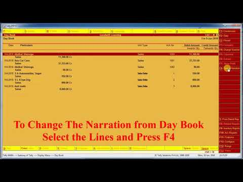 Tally TDL for Day Book Columnar Report- Tally Add on Download