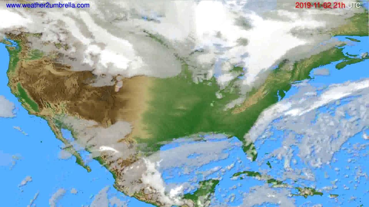 Cloud forecast USA & Canada // modelrun: 00h UTC 2019-11-01
