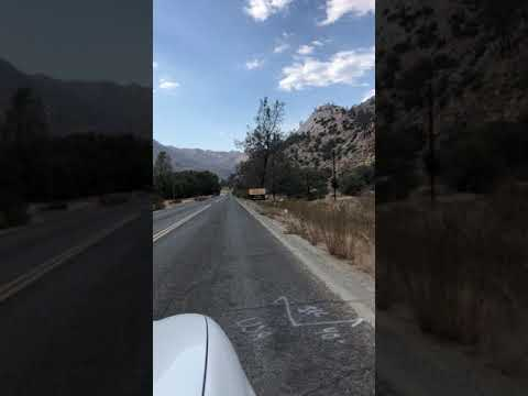 Driving up CA M-99 from Kernville, entering campground