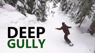 #42 Snowboard intermediate – Deep gully snowboarding