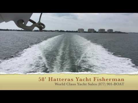 Hatteras 58 Yacht Fisherman video