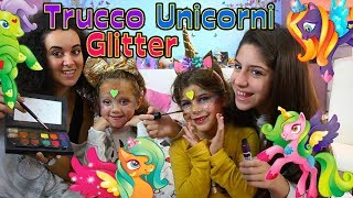 Aurora E Chiara Diventano 2 UNICORNI Luccicanti! Trucco ColorGlitter