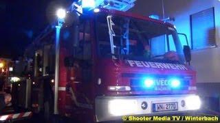 preview picture of video 'Gebäudebrand in Winterbach | FEUERWEHR IM EINSATZ | [+ Drehleiter Feuerwehr Schorndorf]'