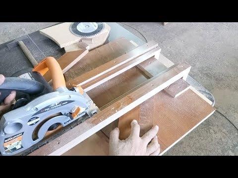 Sierra circular con soporte casero para todo tipo de cortes