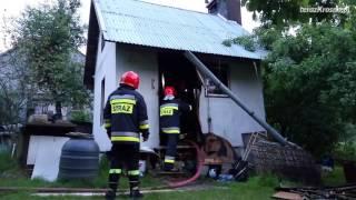 Pożar altany ul. Graniczna w Krośnie