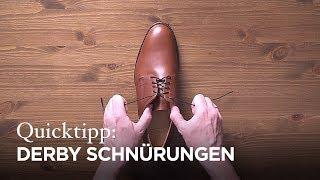 Tutorial: Schnürmethoden für Derby-Schuhe