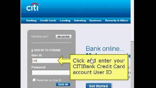 Citibank Online Login Tutorial