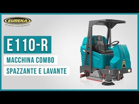 Eureka E110-R | Macchina spazzante e lavante per la pulizia dei pavimenti