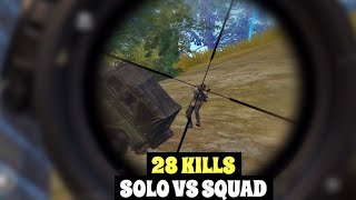 MY BEST MATCH IN SEASON 9 | PUBG MOBILE | SOLO VS SQUAD 28 KILLS!