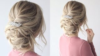 HOW TO: Messy Updo   Bridal Hairstyle