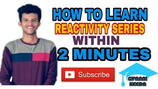 How to learn reactivity series of metals within 2 minute |Reactivity series |Metals and non metals |