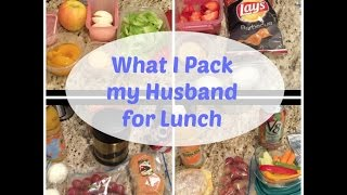 Lunch Ideas for my Husband   What I packed for the week (Non Sandwich)