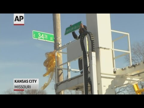 Kansas City has installed the first signs on Martin Luther King Boulevard. The city has renamed a street to shed its reputation as one of the largest U.S. cities without a memorial to King (Feb. 26)