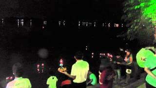 preview picture of video 'Loi Krathong, Chao Praya River, Wat Tua Tong, Pathum Thani, Bangkok'