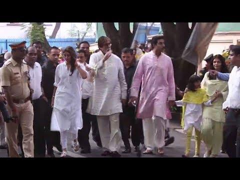 Amitabh Bachchan Celebrating His Birthday With Fimaly | Abhishek Bachchan, Aishwarya Rai, Jaya
