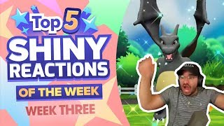 TOP 5 SHINY REACTIONS OF THE WEEK! Pokemon Let