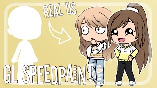 My LITTLE SISTER makes an OC and I DRAW/EDIT it?!! | GL SpeedPaint
