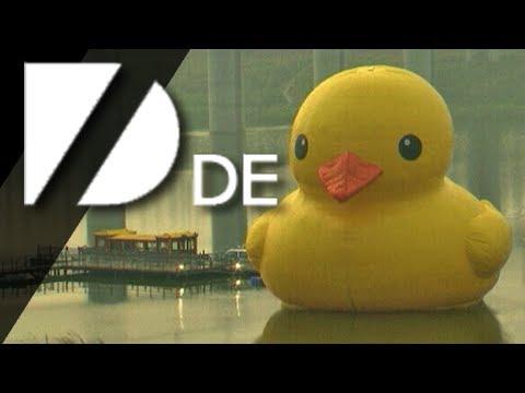 Gigantische Bade-Ente!