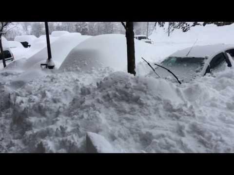 Gran nevada del 16 de enero de 2017 en Benasque