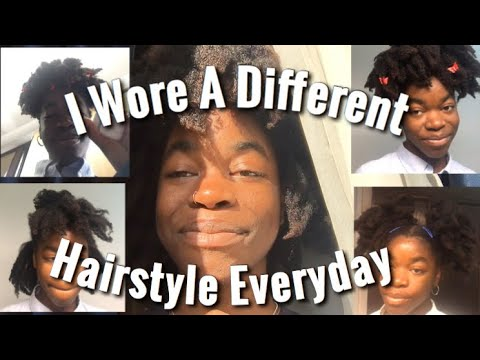 I Wore A Different Hairstyle Everyday | 4c Natural Hair Edition