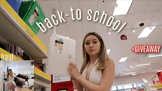 BACK TO SCHOOL SHOPPING (clothes + supplies)   HUGE GIVEAWAY