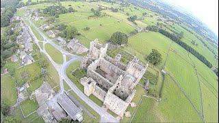 Aysgarth falls, castle walls, flying sub 250grms 3inch fpv drone.
