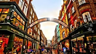 Christmas Shopping in London - Carnaby Street Shops - 2016