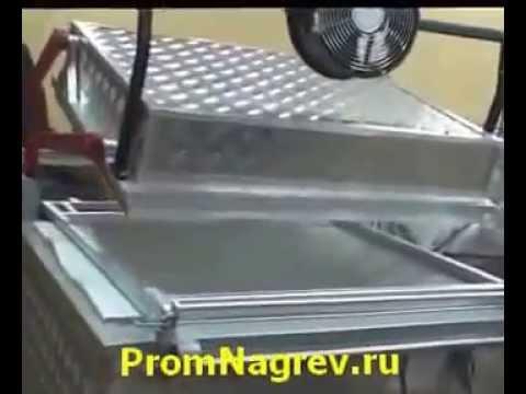 Полуавтоматическая вакуум-формовочная машина ВФ А800 в работе