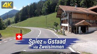 Driving Switzerland in 4K – Road Trip from Spiez to Gstaad